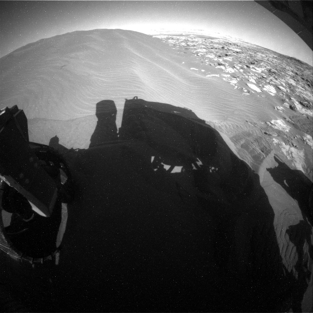 NASA's Mars rover Curiosity acquired this image using its Rear Hazard Avoidance Cameras (Rear Hazcams) on Sol 1225