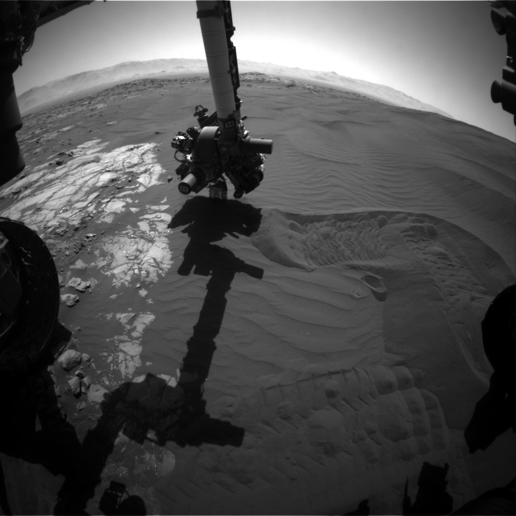 Nasa's Mars rover Curiosity acquired this image using its Front Hazard Avoidance Camera (Front Hazcam) on Sol 1227, at drive 1162, site number 52
