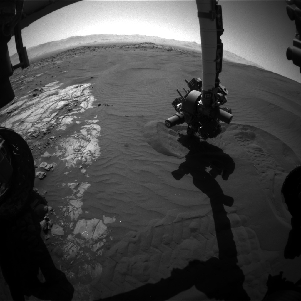 Nasa's Mars rover Curiosity acquired this image using its Front Hazard Avoidance Camera (Front Hazcam) on Sol 1228, at drive 1162, site number 52
