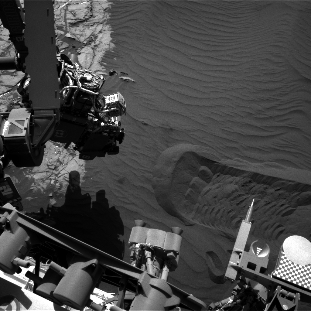 Nasa's Mars rover Curiosity acquired this image using its Left Navigation Camera on Sol 1228, at drive 1162, site number 52