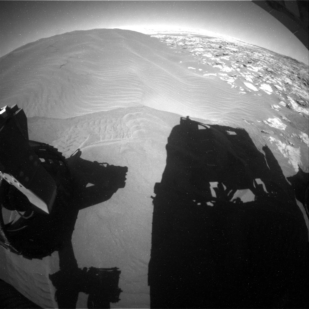 NASA's Mars rover Curiosity acquired this image using its Rear Hazard Avoidance Cameras (Rear Hazcams) on Sol 1228