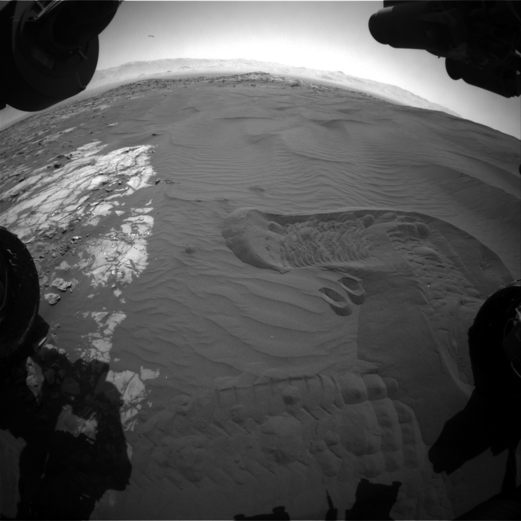 Nasa's Mars rover Curiosity acquired this image using its Front Hazard Avoidance Camera (Front Hazcam) on Sol 1229, at drive 1162, site number 52
