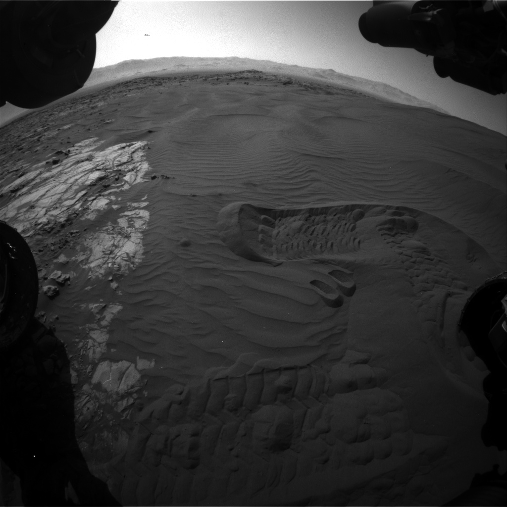 Nasa's Mars rover Curiosity acquired this image using its Front Hazard Avoidance Camera (Front Hazcam) on Sol 1230, at drive 1162, site number 52