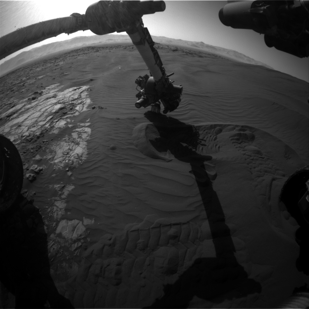 Nasa's Mars rover Curiosity acquired this image using its Front Hazard Avoidance Camera (Front Hazcam) on Sol 1231, at drive 1162, site number 52