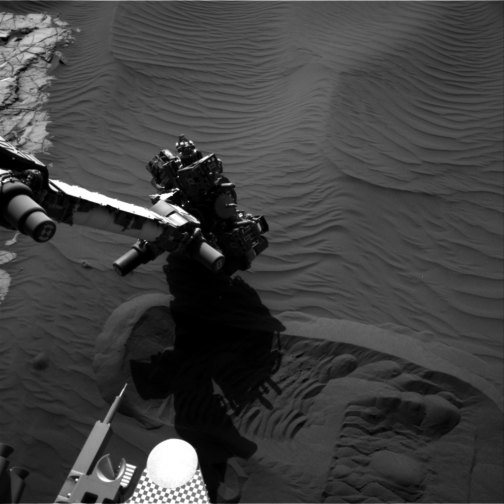 NASA's Mars rover Curiosity acquired this image using its Right Navigation Cameras (Navcams) on Sol 1231