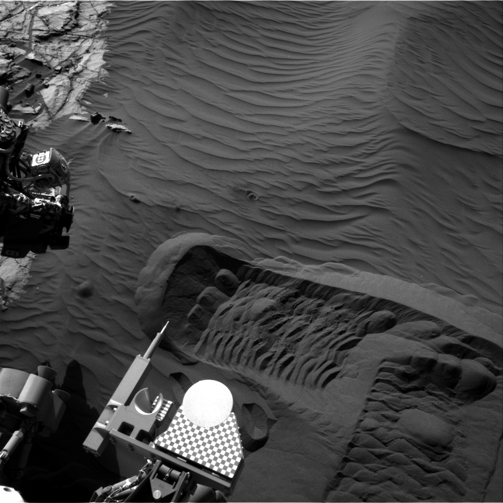Nasa's Mars rover Curiosity acquired this image using its Right Navigation Camera on Sol 1231, at drive 1162, site number 52