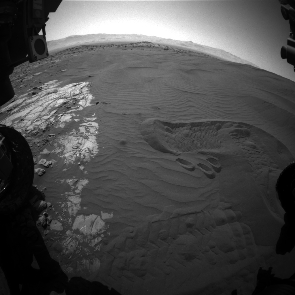 Nasa's Mars rover Curiosity acquired this image using its Front Hazard Avoidance Camera (Front Hazcam) on Sol 1233, at drive 1162, site number 52