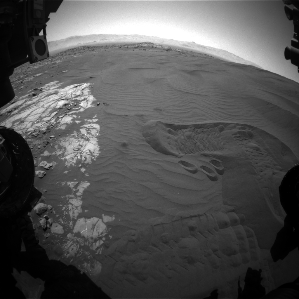 Nasa's Mars rover Curiosity acquired this image using its Front Hazard Avoidance Camera (Front Hazcam) on Sol 1234, at drive 1162, site number 52