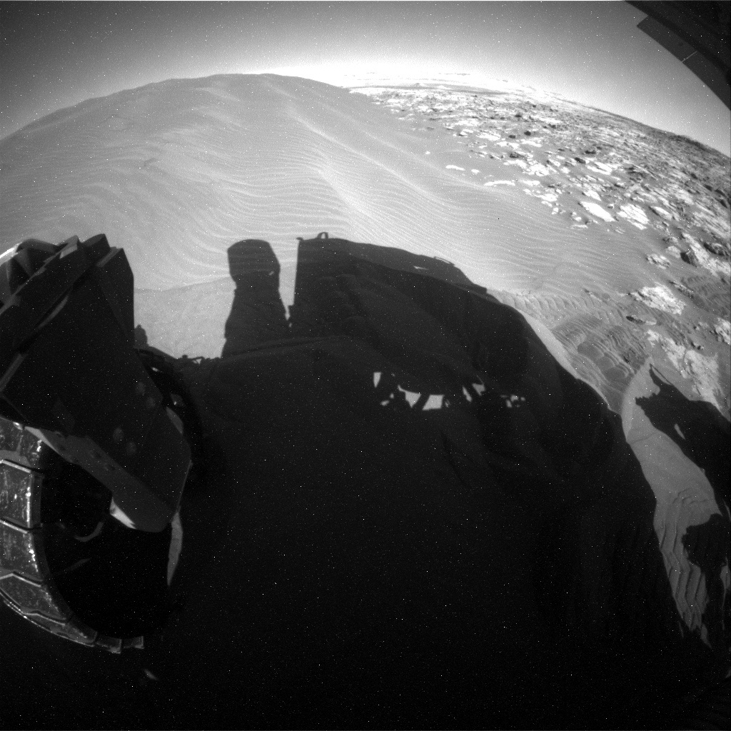 NASA's Mars rover Curiosity acquired this image using its Rear Hazard Avoidance Cameras (Rear Hazcams) on Sol 1235