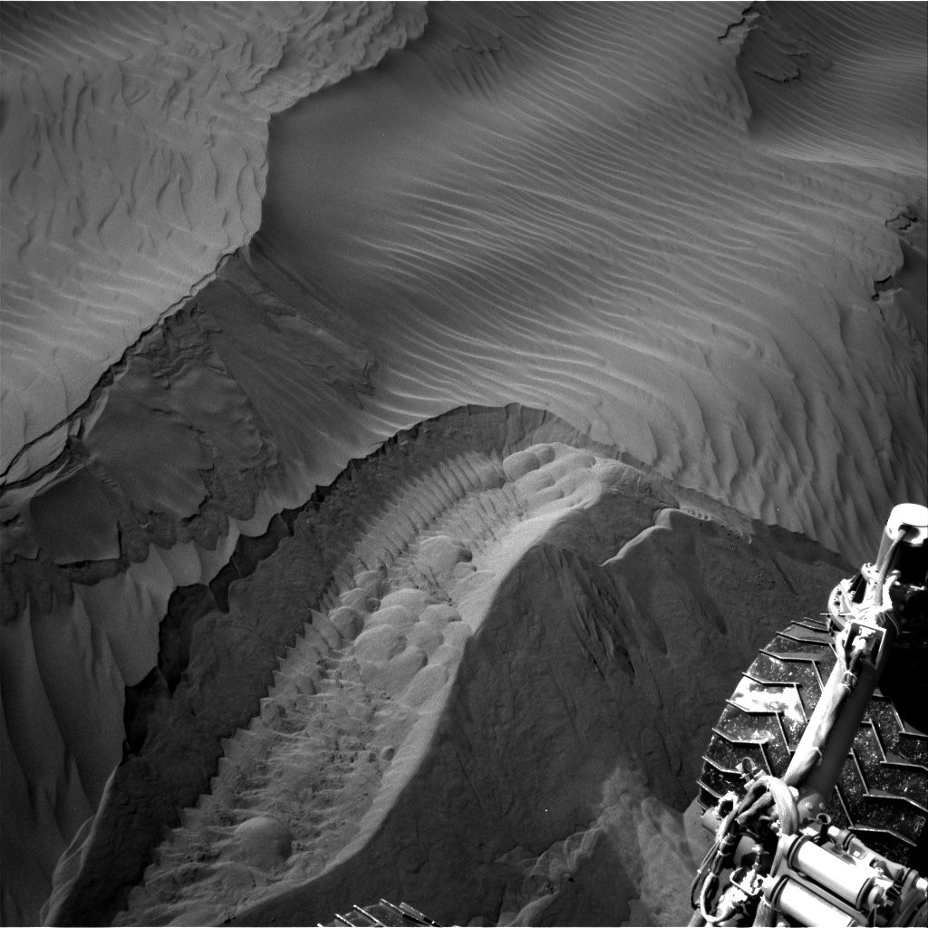 Nasa's Mars rover Curiosity acquired this image using its Right Navigation Camera on Sol 1236, at drive 1162, site number 52