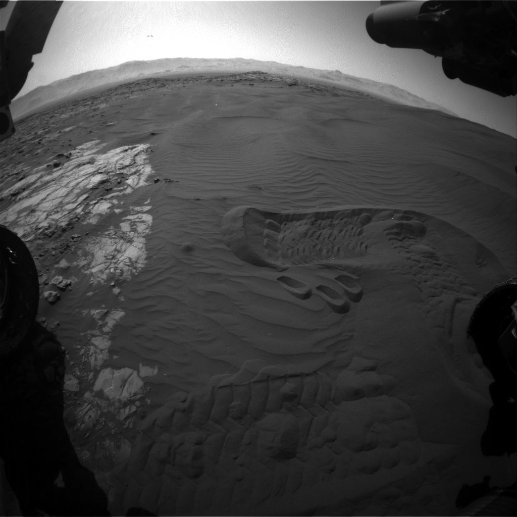 Nasa's Mars rover Curiosity acquired this image using its Front Hazard Avoidance Camera (Front Hazcam) on Sol 1237, at drive 1162, site number 52