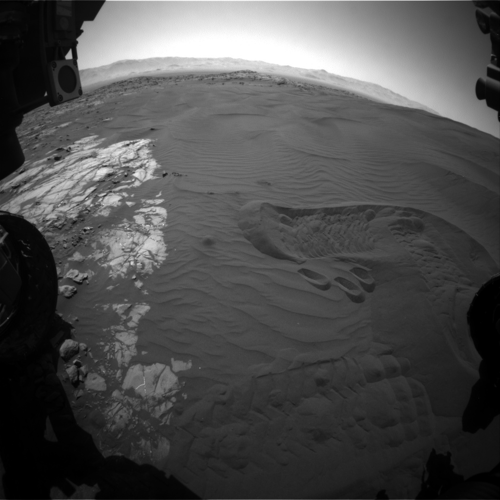 Nasa's Mars rover Curiosity acquired this image using its Front Hazard Avoidance Camera (Front Hazcam) on Sol 1239, at drive 1162, site number 52
