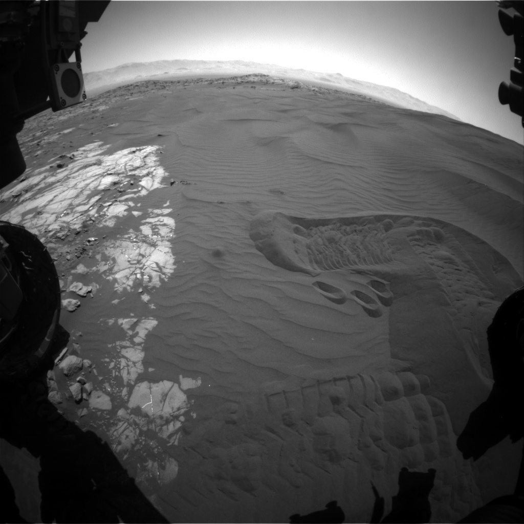 NASA's Mars rover Curiosity acquired this image using its Front Hazard Avoidance Cameras (Front Hazcams) on Sol 1241
