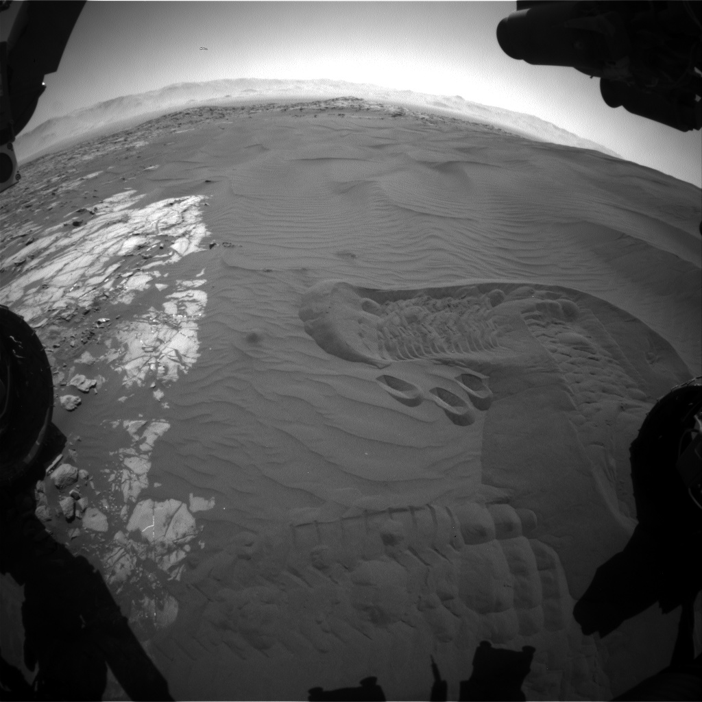 Nasa's Mars rover Curiosity acquired this image using its Front Hazard Avoidance Camera (Front Hazcam) on Sol 1241, at drive 1162, site number 52