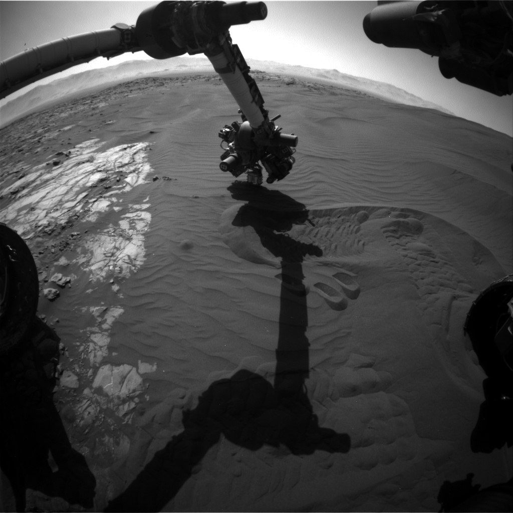 Nasa's Mars rover Curiosity acquired this image using its Front Hazard Avoidance Camera (Front Hazcam) on Sol 1242, at drive 1162, site number 52