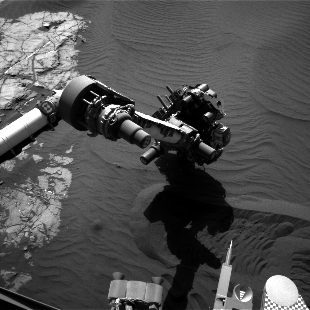 Nasa's Mars rover Curiosity acquired this image using its Left Navigation Camera on Sol 1242, at drive 1162, site number 52