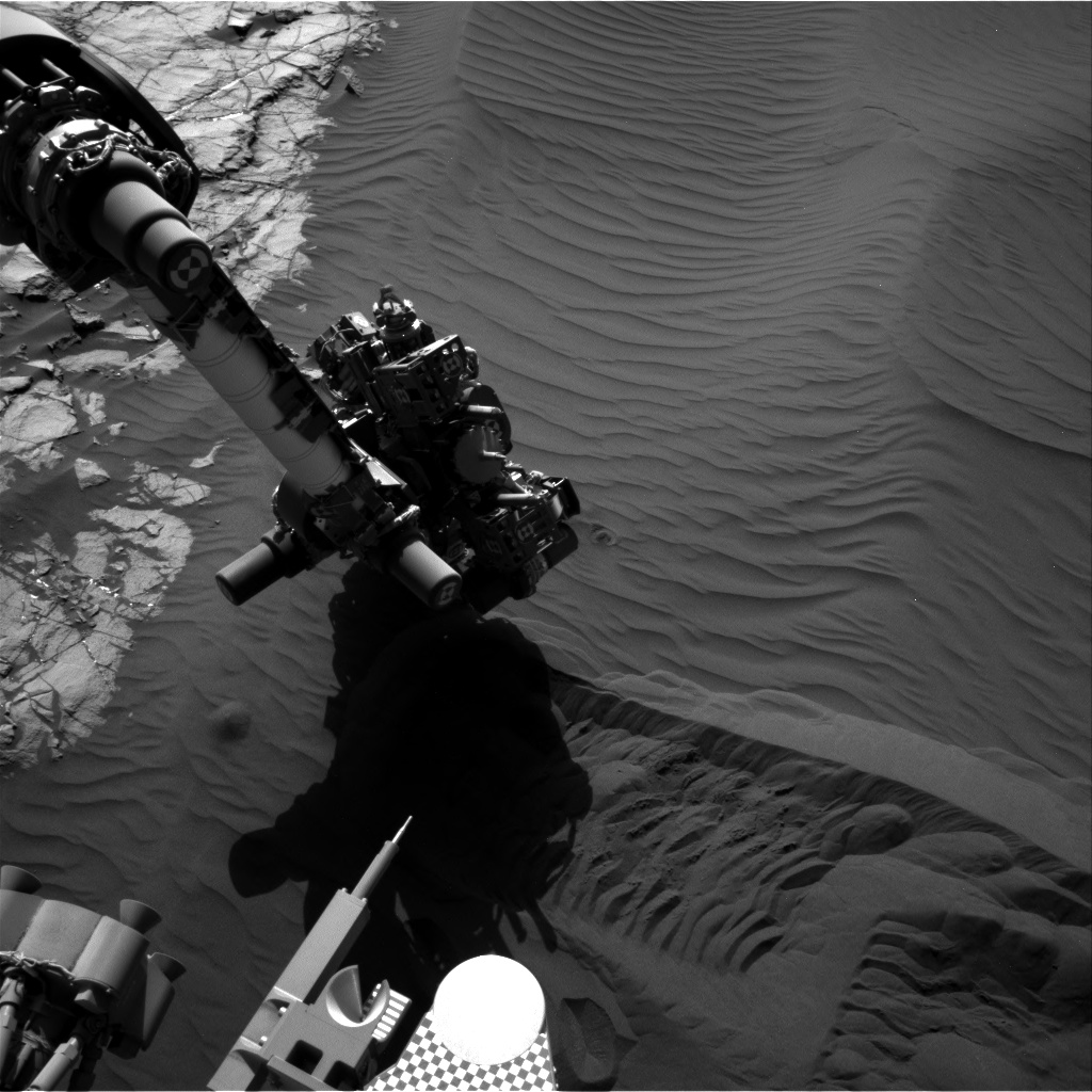 Sol 1242 Navcam of contact science