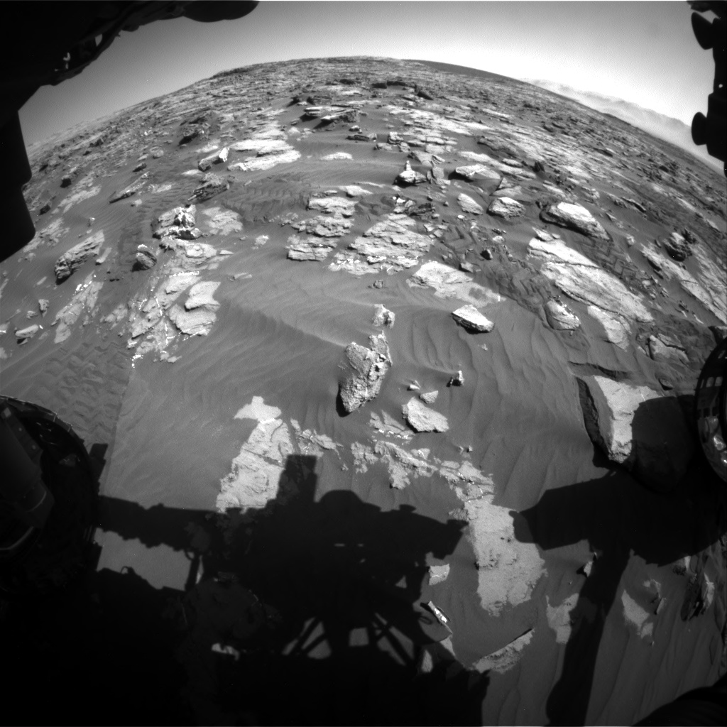 Nasa's Mars rover Curiosity acquired this image using its Front Hazard Avoidance Camera (Front Hazcam) on Sol 1243, at drive 1312, site number 52