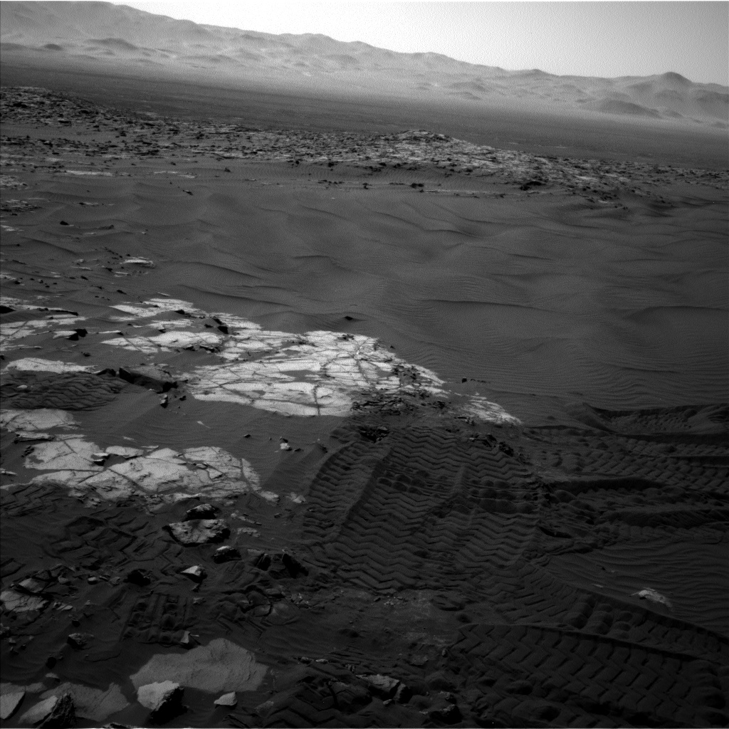 Nasa's Mars rover Curiosity acquired this image using its Left Navigation Camera on Sol 1243, at drive 1312, site number 52