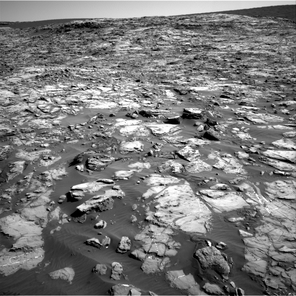 Nasa's Mars rover Curiosity acquired this image using its Right Navigation Camera on Sol 1243, at drive 1312, site number 52