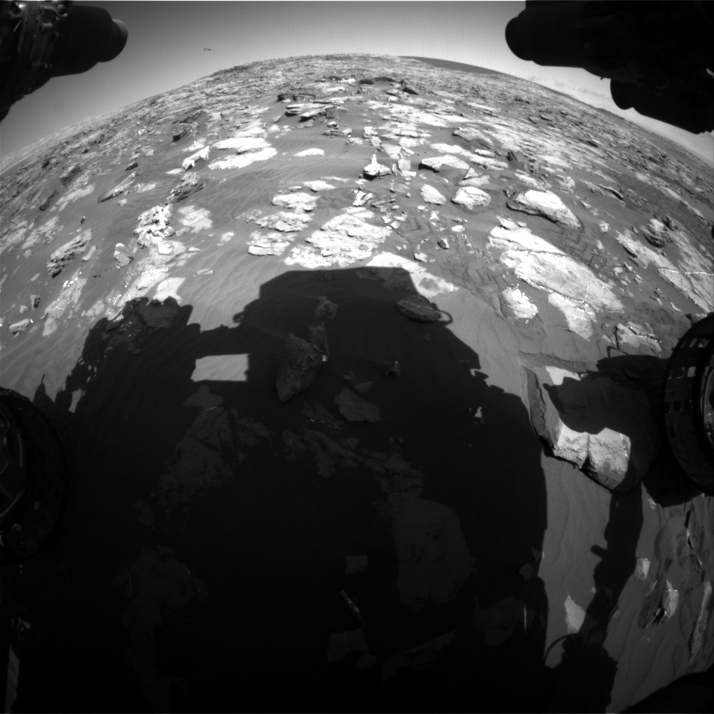 Nasa's Mars rover Curiosity acquired this image using its Front Hazard Avoidance Camera (Front Hazcam) on Sol 1244, at drive 1312, site number 52