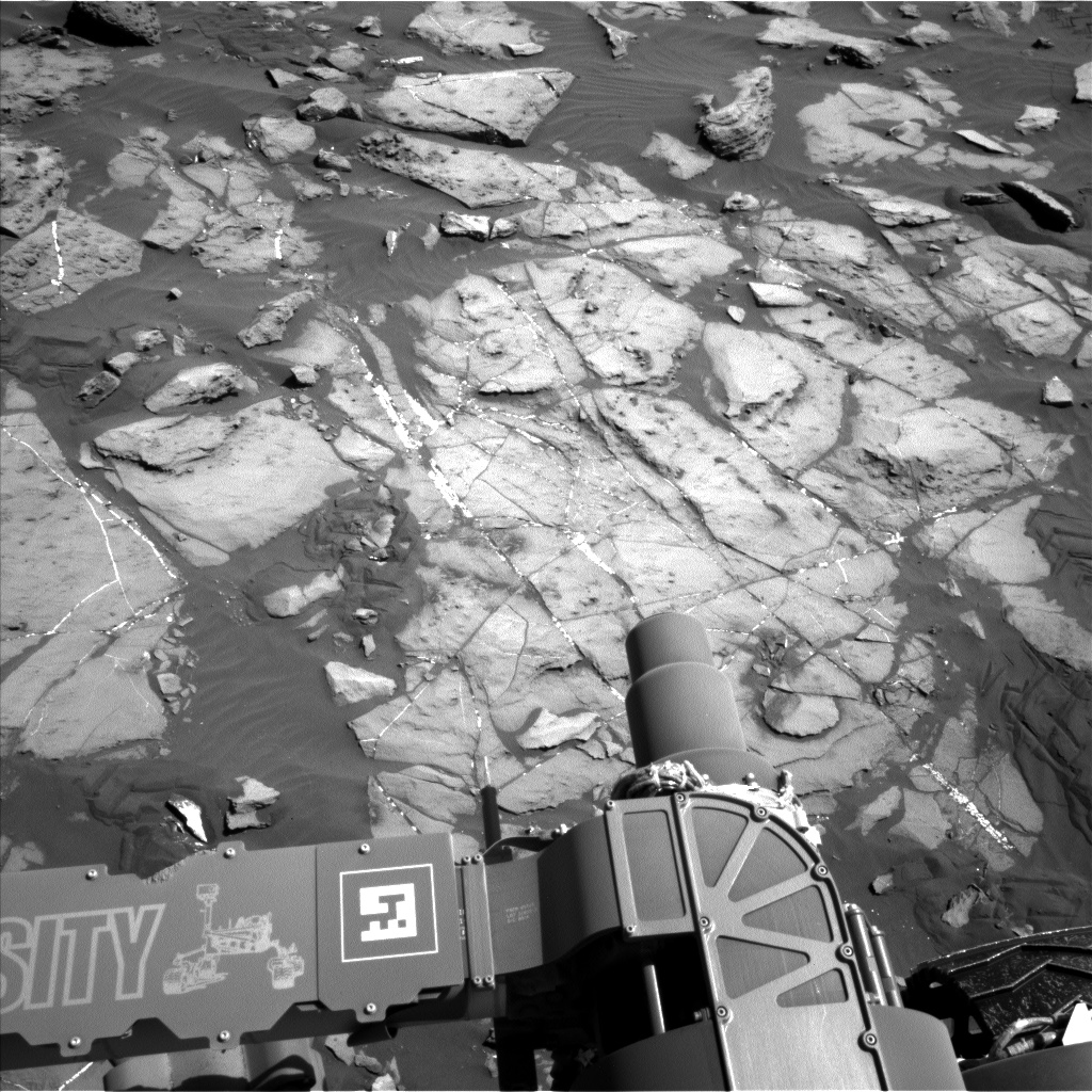 Nasa's Mars rover Curiosity acquired this image using its Left Navigation Camera on Sol 1244, at drive 1370, site number 52