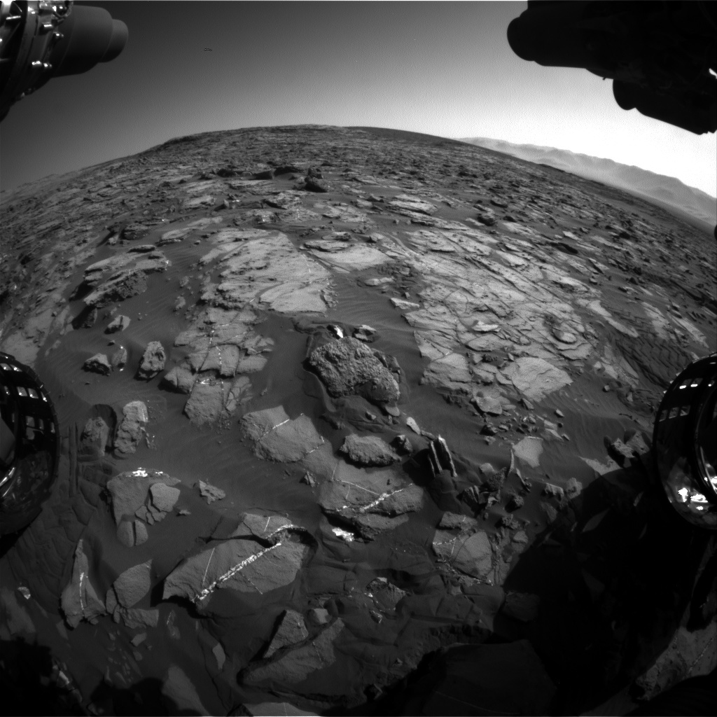 NASA's Mars rover Curiosity acquired this image using its Front Hazard Avoidance Cameras (Front Hazcams) on Sol 1245