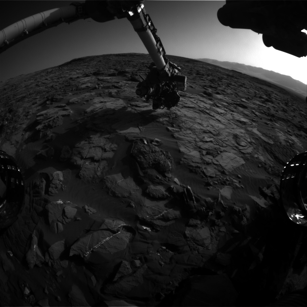 Nasa's Mars rover Curiosity acquired this image using its Front Hazard Avoidance Camera (Front Hazcam) on Sol 1245, at drive 1370, site number 52