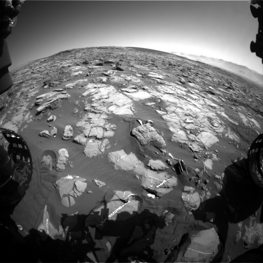 NASA's Mars rover Curiosity acquired this image using its Front Hazard Avoidance Cameras (Front Hazcams) on Sol 1246