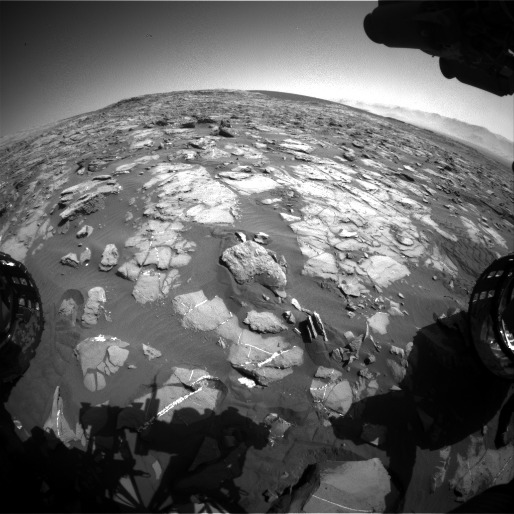Nasa's Mars rover Curiosity acquired this image using its Front Hazard Avoidance Camera (Front Hazcam) on Sol 1246, at drive 1370, site number 52