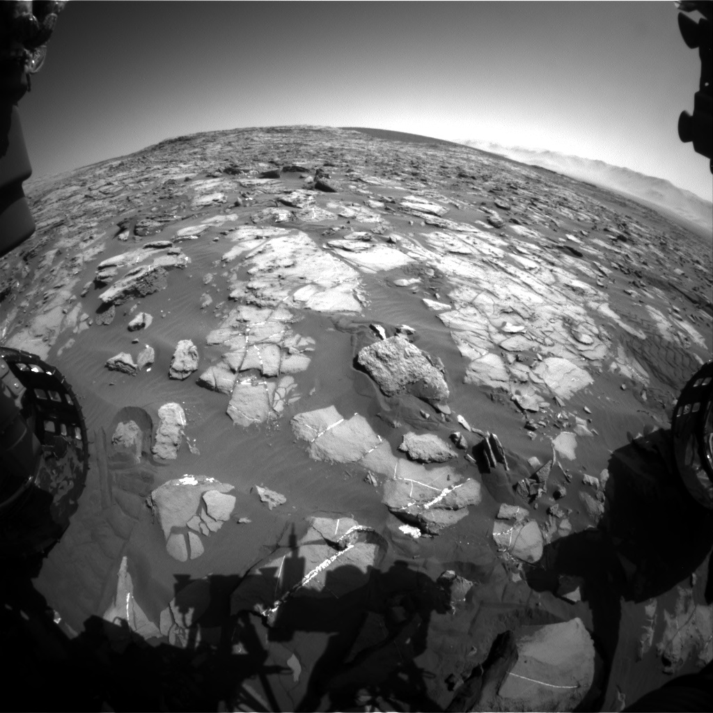 Nasa's Mars rover Curiosity acquired this image using its Front Hazard Avoidance Camera (Front Hazcam) on Sol 1247, at drive 1370, site number 52