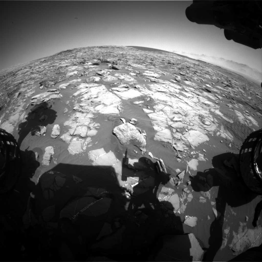 Nasa's Mars rover Curiosity acquired this image using its Front Hazard Avoidance Camera (Front Hazcam) on Sol 1248, at drive 1370, site number 52