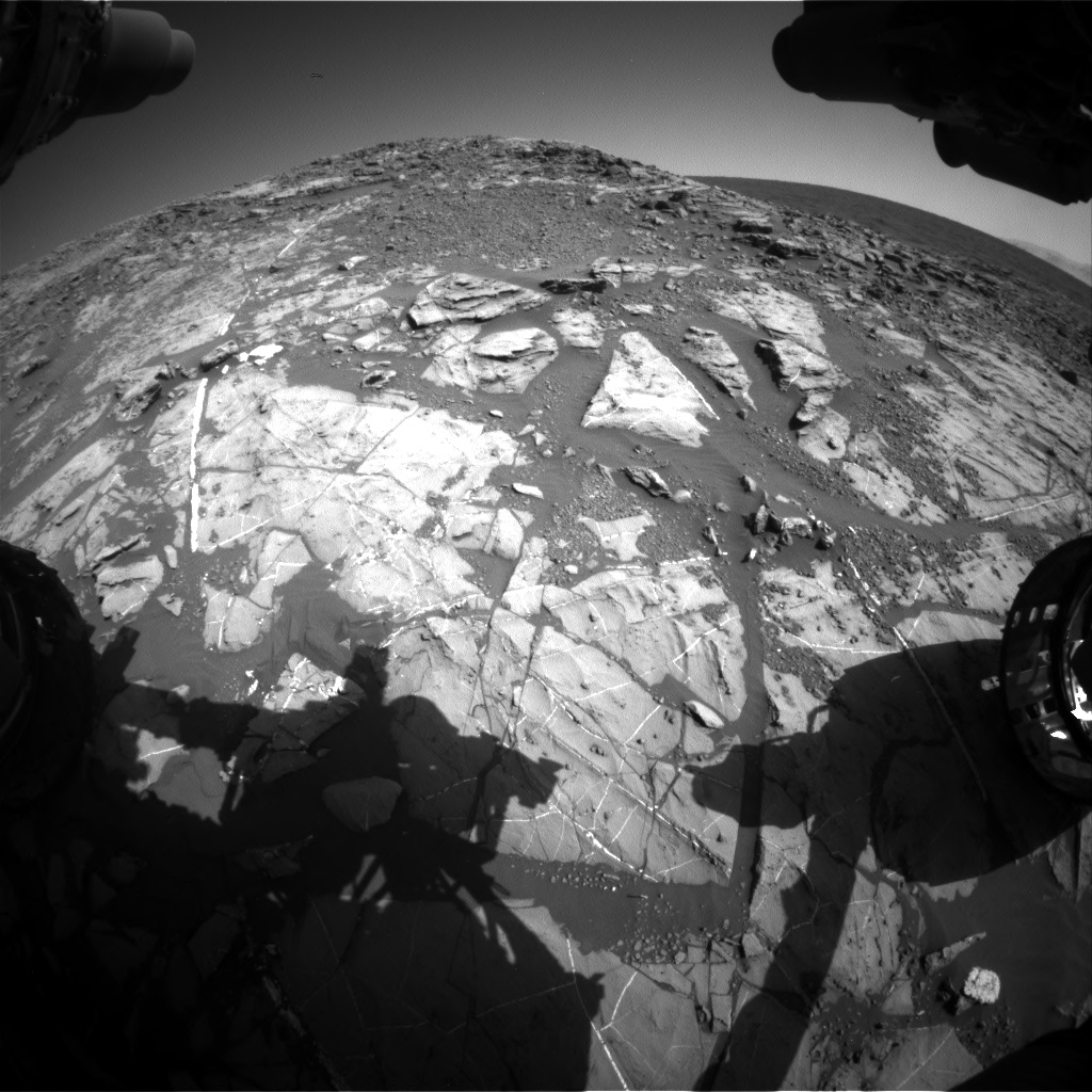 Nasa's Mars rover Curiosity acquired this image using its Front Hazard Avoidance Camera (Front Hazcam) on Sol 1248, at drive 1722, site number 52