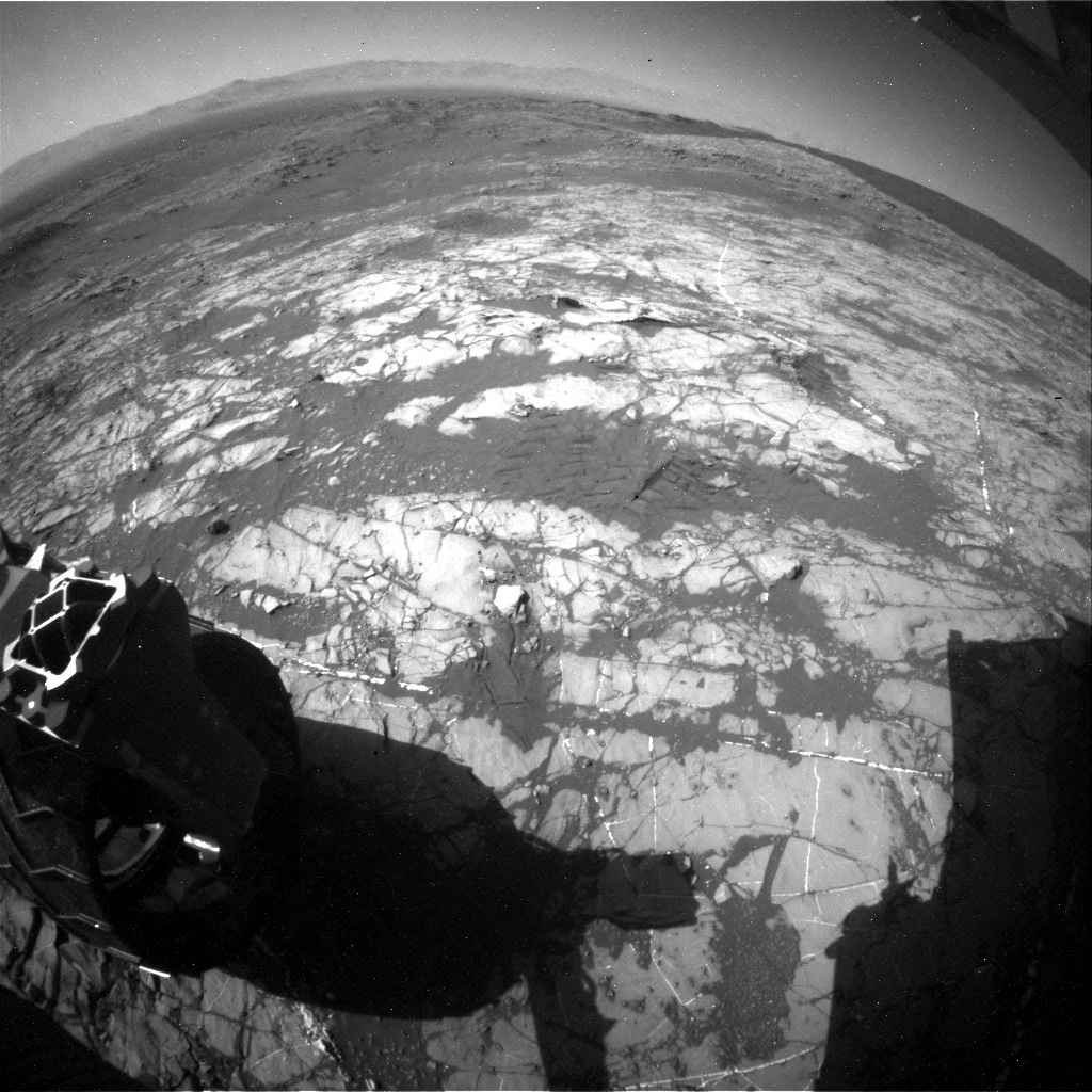 NASA's Mars rover Curiosity acquired this image using its Rear Hazard Avoidance Cameras (Rear Hazcams) on Sol 1248