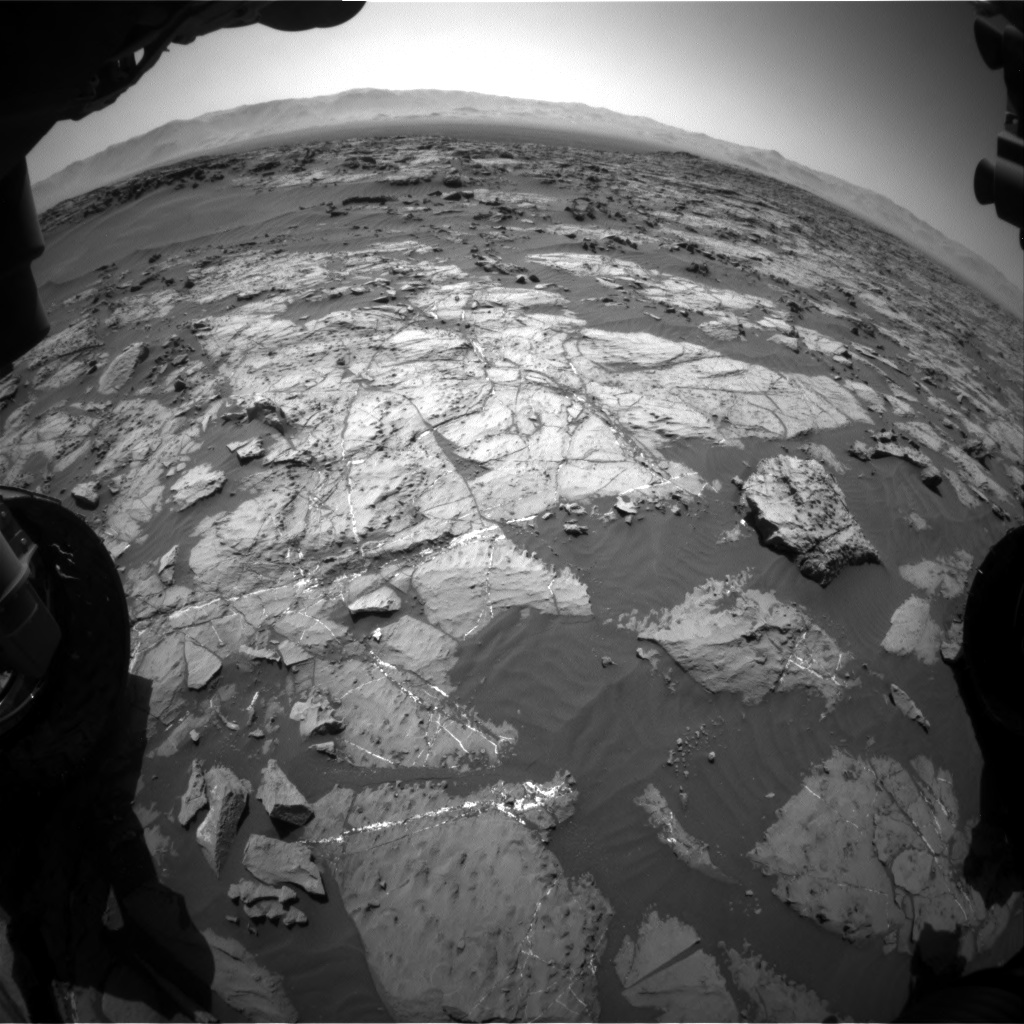 Nasa's Mars rover Curiosity acquired this image using its Front Hazard Avoidance Camera (Front Hazcam) on Sol 1249, at drive 2262, site number 52