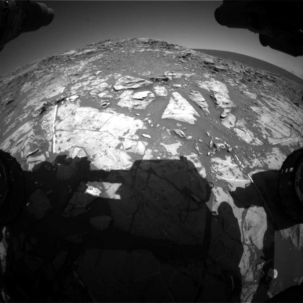Nasa's Mars rover Curiosity acquired this image using its Front Hazard Avoidance Camera (Front Hazcam) on Sol 1249, at drive 1722, site number 52