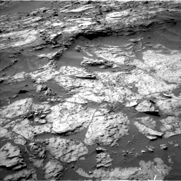 Nasa's Mars rover Curiosity acquired this image using its Left Navigation Camera on Sol 1249, at drive 1998, site number 52