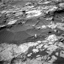 Nasa's Mars rover Curiosity acquired this image using its Left Navigation Camera on Sol 1249, at drive 2010, site number 52