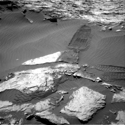 Nasa's Mars rover Curiosity acquired this image using its Right Navigation Camera on Sol 1249, at drive 1950, site number 52
