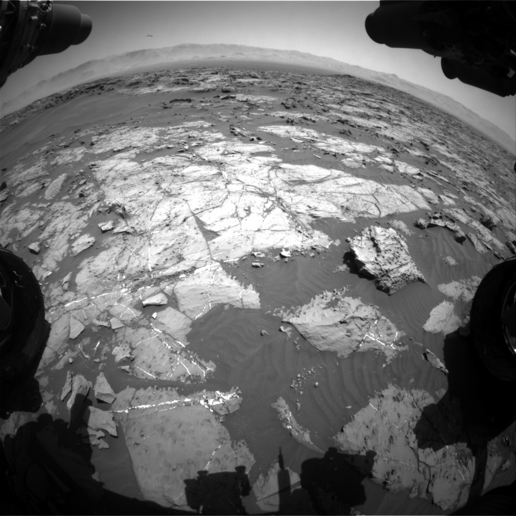 Nasa's Mars rover Curiosity acquired this image using its Front Hazard Avoidance Camera (Front Hazcam) on Sol 1250, at drive 2262, site number 52