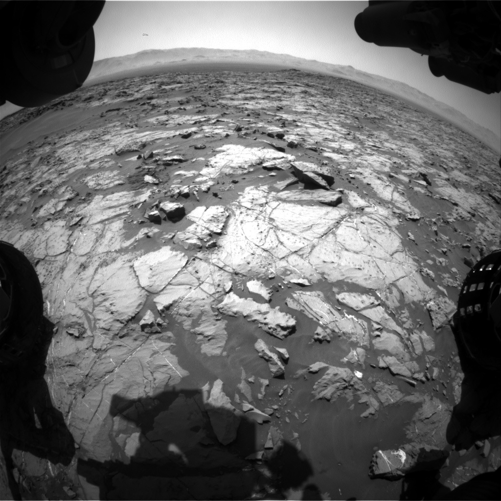 Nasa's Mars rover Curiosity acquired this image using its Front Hazard Avoidance Camera (Front Hazcam) on Sol 1250, at drive 2388, site number 52