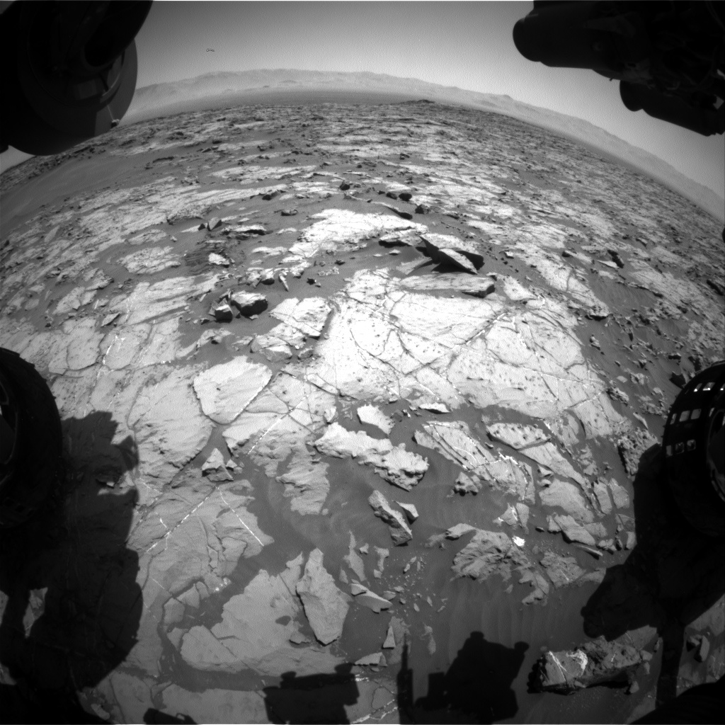 Nasa's Mars rover Curiosity acquired this image using its Front Hazard Avoidance Camera (Front Hazcam) on Sol 1251, at drive 2388, site number 52