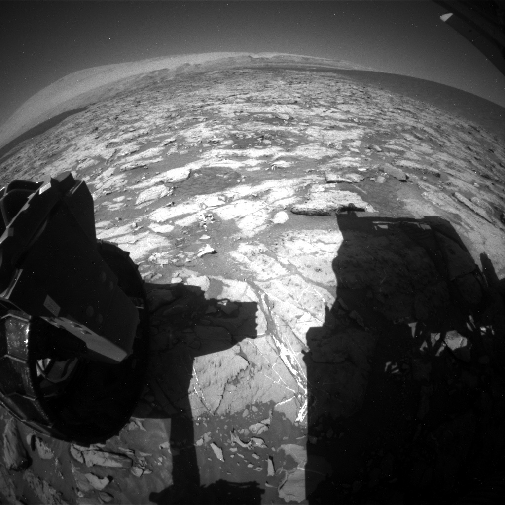 NASA's Mars rover Curiosity acquired this image using its Rear Hazard Avoidance Cameras (Rear Hazcams) on Sol 1251