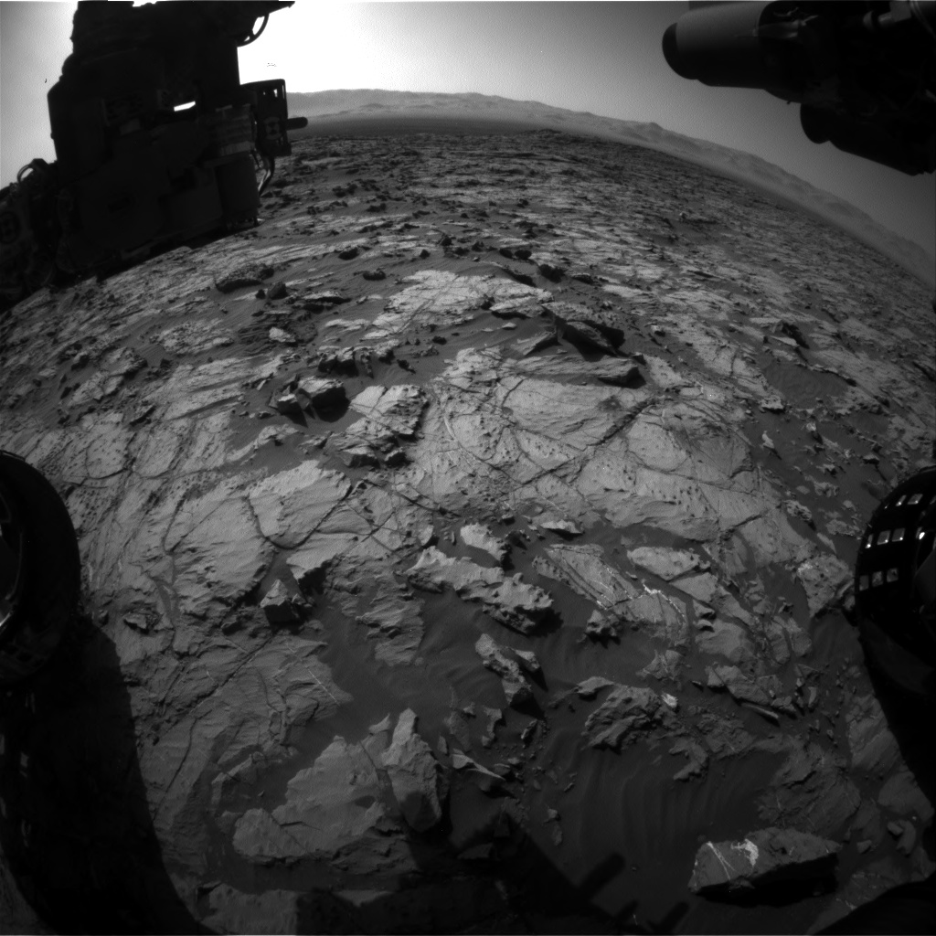 Nasa's Mars rover Curiosity acquired this image using its Front Hazard Avoidance Camera (Front Hazcam) on Sol 1252, at drive 2388, site number 52