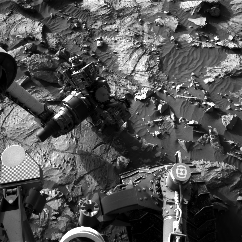 Nasa's Mars rover Curiosity acquired this image using its Right Navigation Camera on Sol 1253, at drive 2388, site number 52