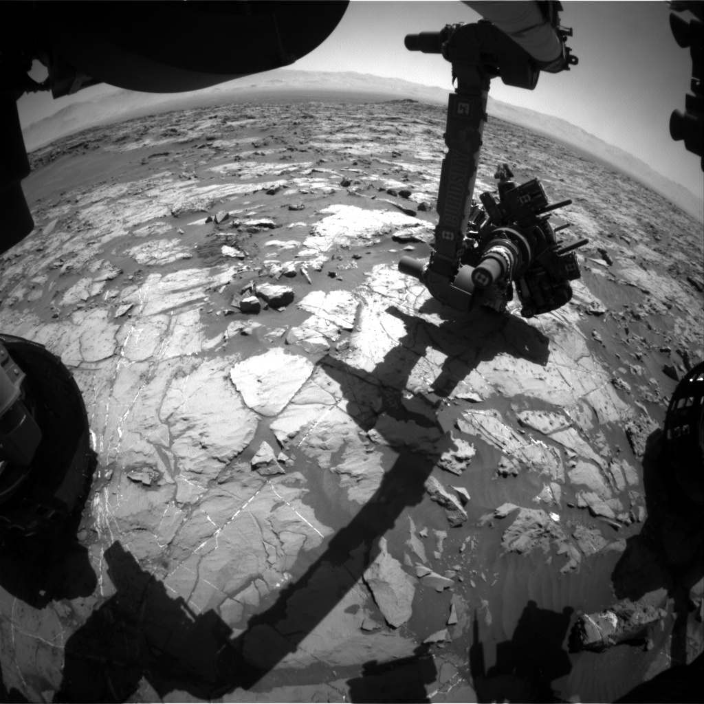 Nasa's Mars rover Curiosity acquired this image using its Front Hazard Avoidance Camera (Front Hazcam) on Sol 1254, at drive 2388, site number 52