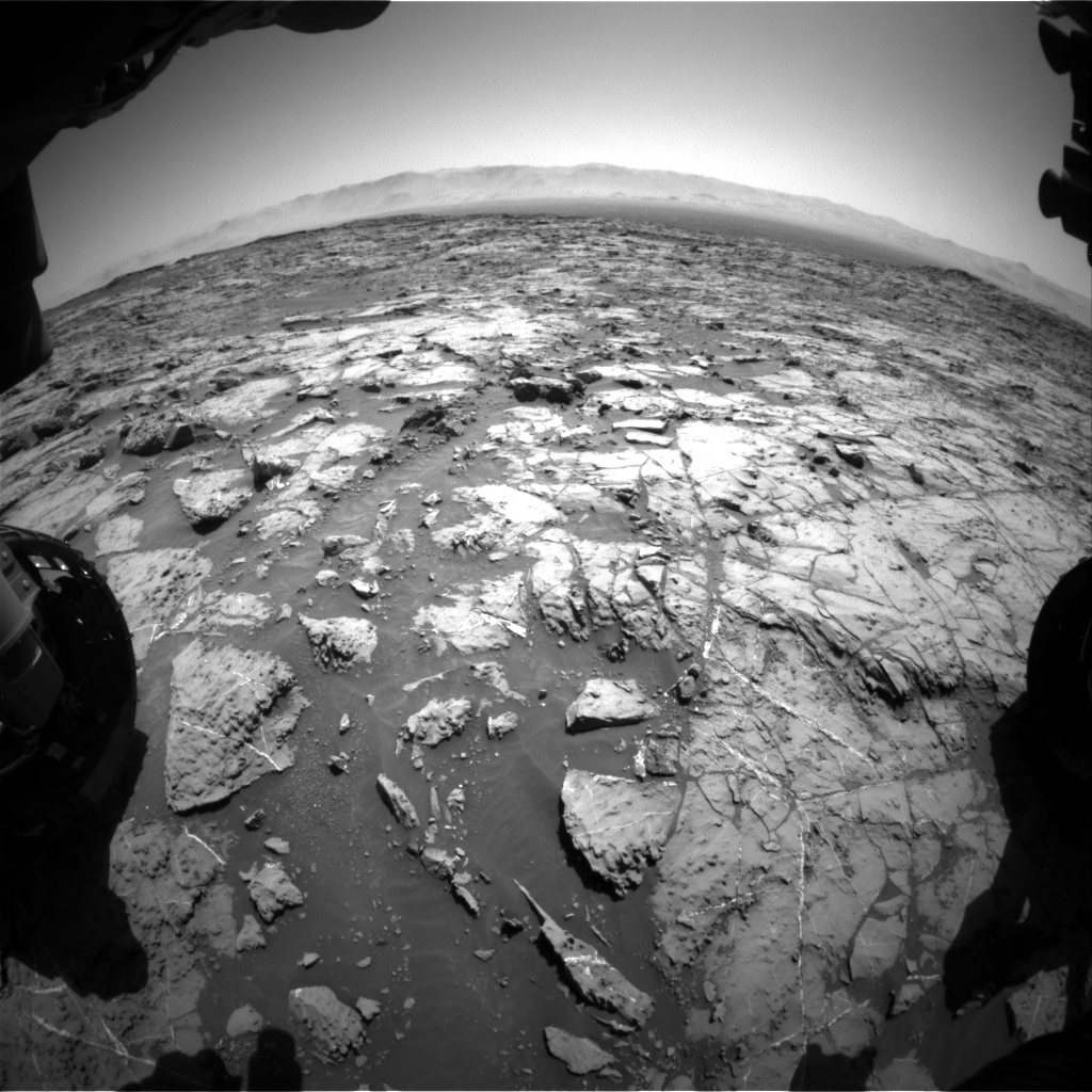 Nasa's Mars rover Curiosity acquired this image using its Front Hazard Avoidance Camera (Front Hazcam) on Sol 1255, at drive 2500, site number 52