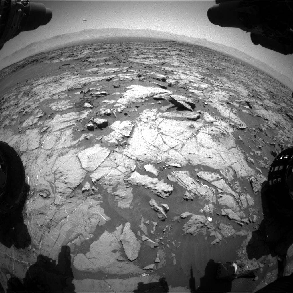 Nasa's Mars rover Curiosity acquired this image using its Front Hazard Avoidance Camera (Front Hazcam) on Sol 1255, at drive 2388, site number 52