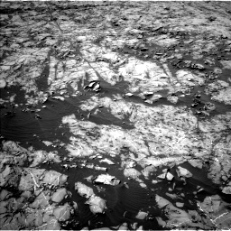 Nasa's Mars rover Curiosity acquired this image using its Left Navigation Camera on Sol 1255, at drive 2424, site number 52