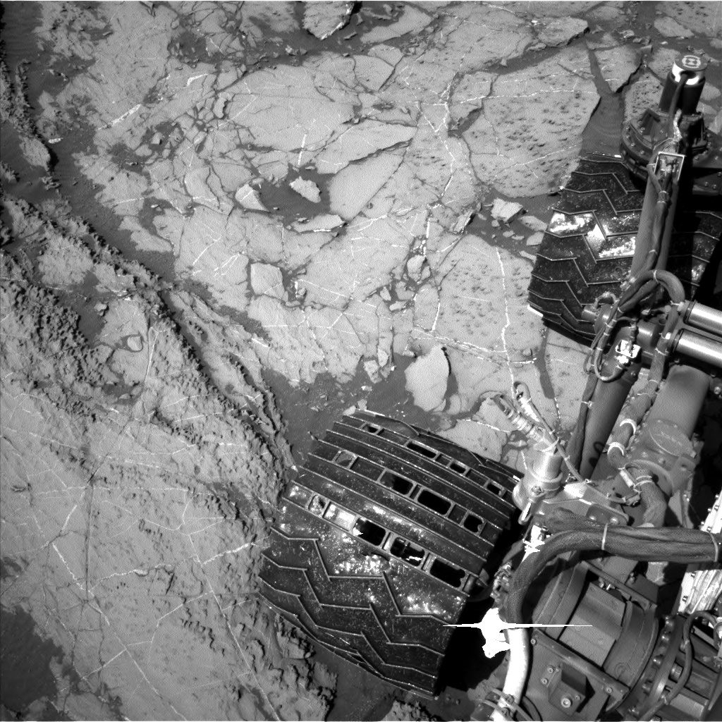 Nasa's Mars rover Curiosity acquired this image using its Left Navigation Camera on Sol 1255, at drive 2500, site number 52